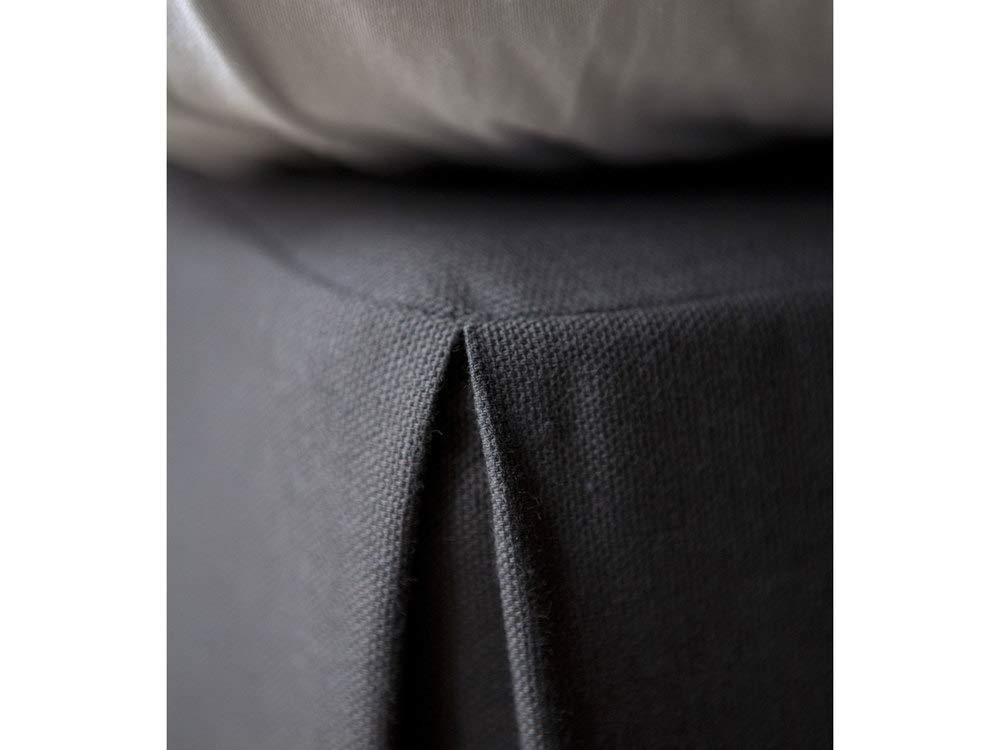 Cotton Delamaison Alacasa Cache Sommier 200 X 180cm Anthracite