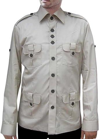 INMONARCH para Hombre Safari Camisa para Hombre Gainsboro Bush de Bolsillo (4 Camisas HS102: Amazon.es: Ropa y accesorios