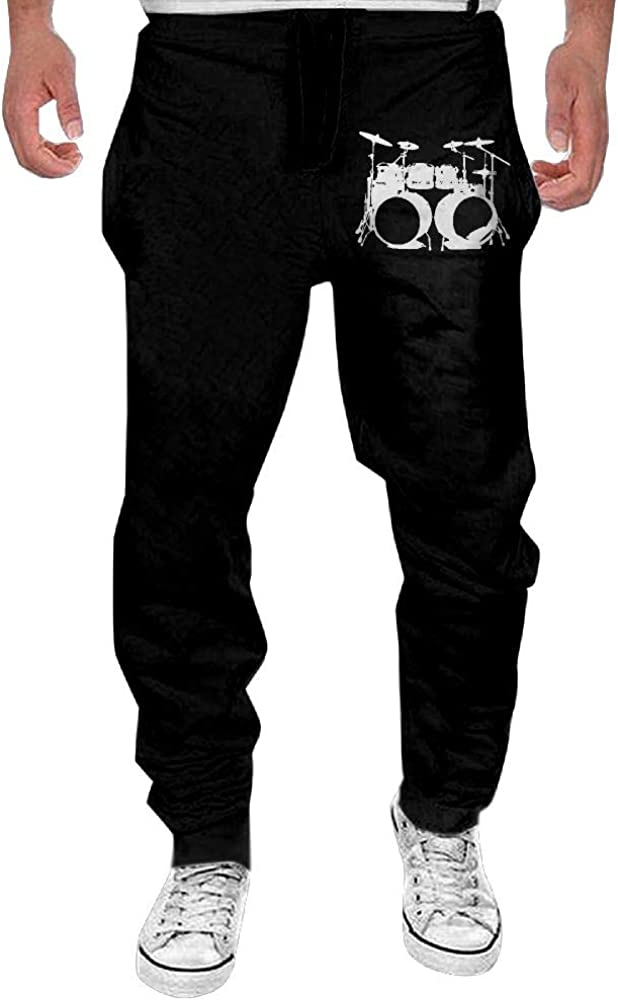 Yecx-1 Mens Drumms Drummer Sport Cotton,Gym Beam Trousers