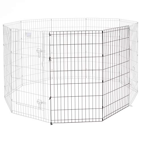 Universal Pet Playpen 2-Panel Extension Kit | Fits Metal 42-Inch Dog Pens | Kit Measures 42H x 47.50W Inches | Includes 4 Thumb Snaps, 2 Ground Stakes For Sale