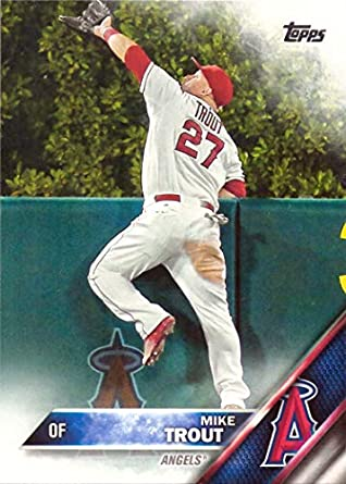2016 Topps 1 Mike Trout Baseball Card