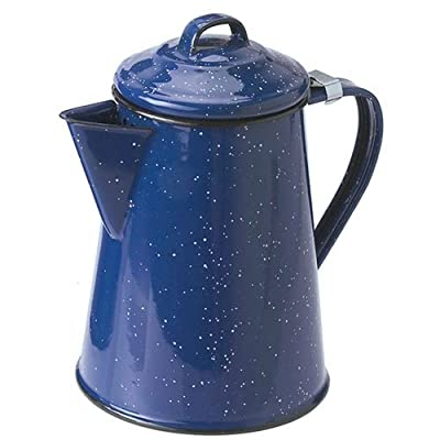 Blue Enamel 12 cup Coffee Pot