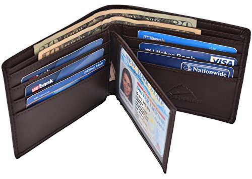 Hopsooken Leather Wallets Flipout Trifold product image