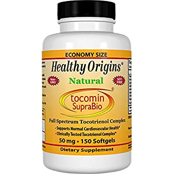 Healthy Origins Tocomin SupraBio (Tocotrienols) 50 mg, 150 Softgels