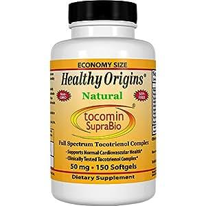 Healthy Origins, Tocomin SupraBio, Full Spectrum Palm Tocotrienol Complex, 50 mg, 150 Softgels