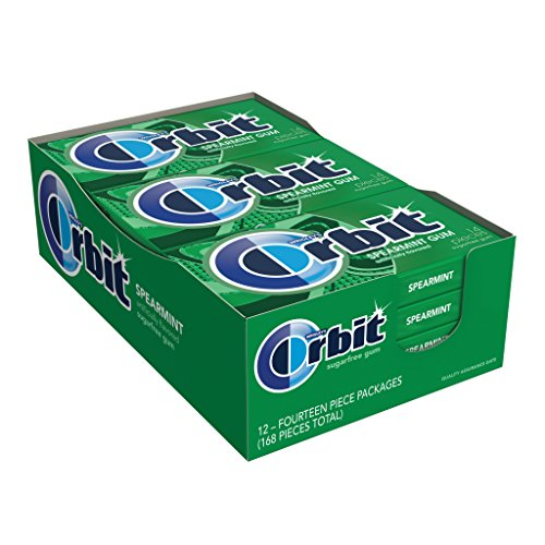 Orbit Spearmint Sugarfree Gum, 14 Pieces (12 (12 Gums)