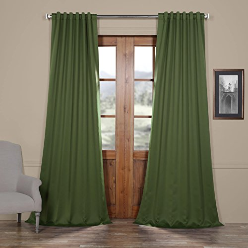 Half Price Drapes Boch-171158-84 Blackout Curtain, 50 x 84, Oasis Green (Curtains Black Green)