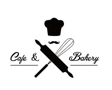 [Cafe & Bäckerei] Nützlicher Kaffee / Desserts / Entspannungs-Salon Fenster Aufkleber / Aufkleber Schwarz