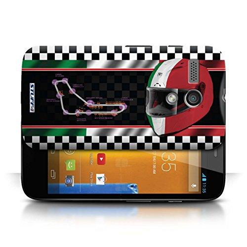 Etui / Coque pour Motorola MOTO G (2013) / Italie/Monza conception / Collection de F1 Piste Drapeau