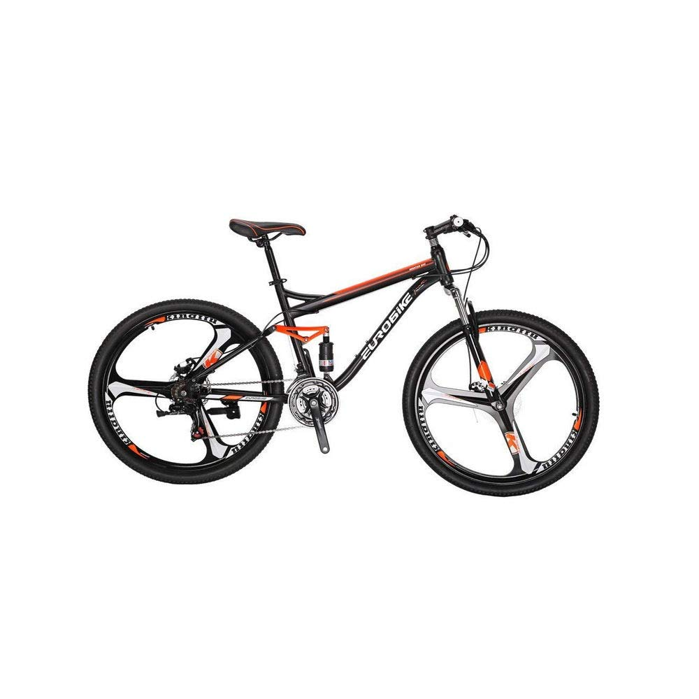 Extrbici Eurobike Mountain Bikes Dual Suspension 21 Speeds,27.5-inch Wheels 18 inch Frame S7 MTB