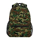 ZZKKO Camouflage Military Backpacks College School Book Bag Travel Hiking Camping Daypack