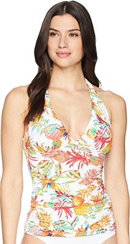 Bleu Rod Beattie Women's Halter Tankini Top, Pineapple Express, 6 -