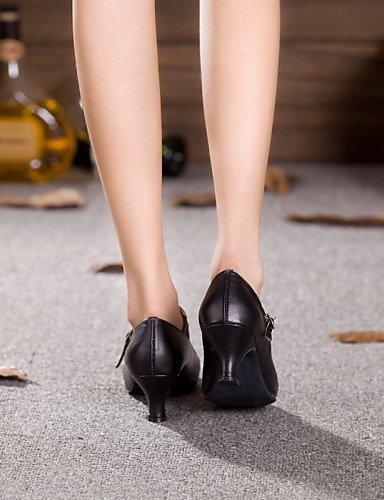 Cuir Chaussures danse Verni Black Jazz Autre de ShangYi Personnalisables Talon Cuir Cubain Non Latine BzwTnqnxd