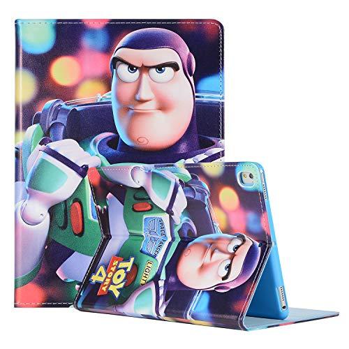 iPad Mini 3 4 5 Cartoon Case, Hwota Cute Cartoon Toy Story Fashion Kids Comic Slim Flip Folio Stand Leather Case Book Shell Smart Cover for Apple iPad Mini 2 3 4 5 (Buzz Lightyear)