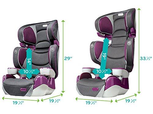 evenflo rightfit booster car seat hollyhock. Black Bedroom Furniture Sets. Home Design Ideas