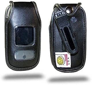 product image for Turtleback Fitted Case Made for Pantech Breeze 3 Flip Phone Black Leather Rotating Removable Belt Clip Made in USA