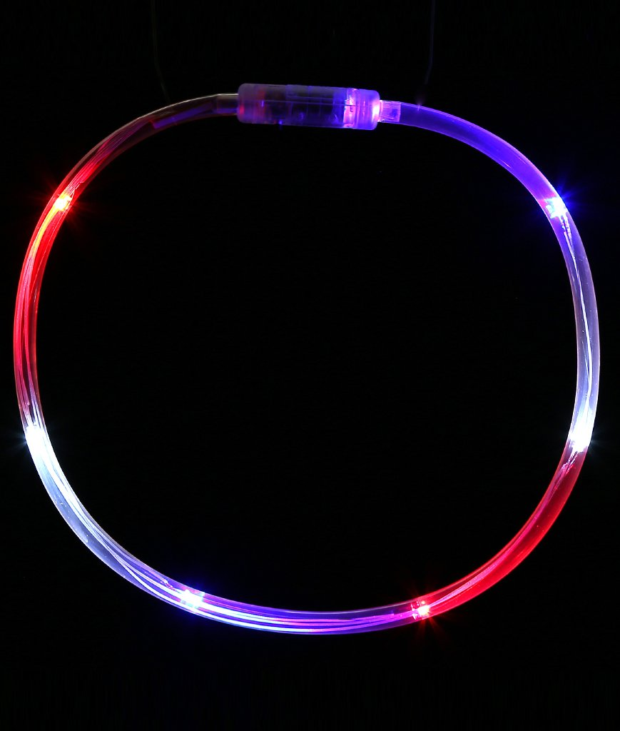Fun Central O556 1 Pc 27 Inches Multicolor LED Light Chaser Necklace LED Light Up Necklace LED Light Necklace