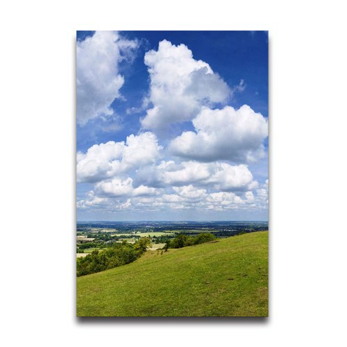 Blue Sky White Cloud Design 20 x 30 Inch Poster Wall Sticker - Blue Surfing Wallpaper