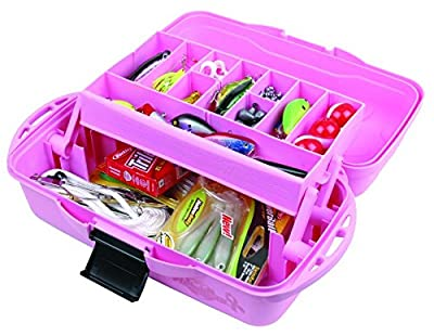 Flambeau Tackle 1 Tray Tackle Box (Pink, 15x8x6.5-Inch)
