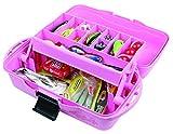 pink fishing tackle box - Flambeau Tackle 1 Tray Tackle Box (Pink, 15x8x6.5-Inch)