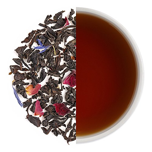 Teabox Mountain Rose Black Tea 3.5oz (40 Cups) from India | Loose Leaf with Natural Ingredients: Cornflower, Cardamom, Rose Petals, Jasmine | Delivered Garden Fresh Direct from Source (40 Roses)