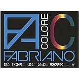 Viscio Trading 113501 Blocco Fabriano, Carta, Multicolore, 24x33x0.7 cm, 5 Unità