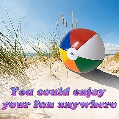 BESTZY Anguria Palla 4 Pezzi Palla di Anguria Pallone da Spiaggia con Pompa a...