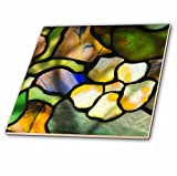 3dRose Danita Delimont - Artwork - New York, Tiffany stained glass lamp shade. - 4 Inch Ceramic Tile (ct_279255_1)
