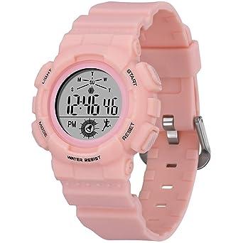 Amazon.com: Reloj digital para mujer, esfera pequeña, reloj ...
