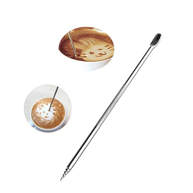 BESTONZON Besto nzon 5/unidades Acero Inoxidable Caf/é de l/ápiz Barista Herramientas para capuchino Latte Espresso Decorar