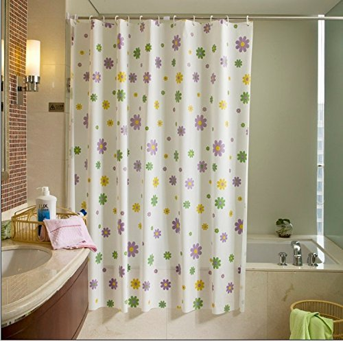 "Shower Curtain or Liner, 12 Hooks, 3 Magnets in Bottom, Durable Grommets 72x72 Inch, Waterproof, Purple Flowers - Purple flowers Shower Curtain or Shower Curtain Liner. Best holiday gift ideas for family or friends Material: Vinyl. NO Bad Smell Dimensions: 72 x 72"" . Accommodates most standard size tubs and showers - shower-curtains, bathroom-linens, bathroom - 51GOWYh8bKL -"
