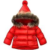 Jojobaby Baby Boys Girls Hooded Snowsuit Winter Warm Fur Collar Hooded Down Windproof Jacket Outerwear
