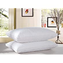 White Down Pillow 1pair (2 Pieces) Filled in Canada (Queen 47 oz)