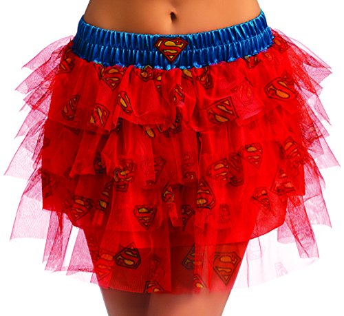 Secret Wishes  DC Comics Justice League Superhero Style Adult Skirt with Sequins Supergirl, Blue, One Size -