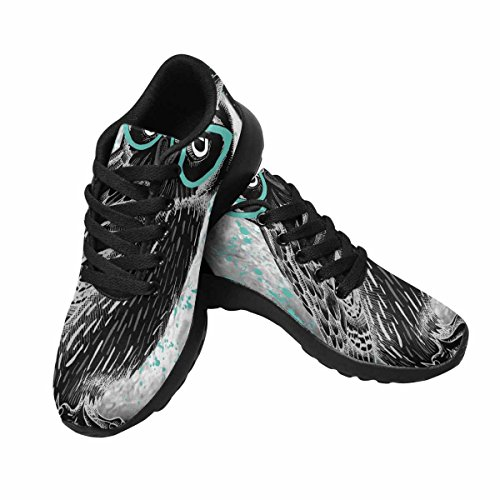 InterestPrint Womens Jogging Running Sneaker Lightweight Go Easy Walking Comfort Sports Athletic Shoes Owl With Glasses and Moon at Night Multi 1 VyO3YeNZi