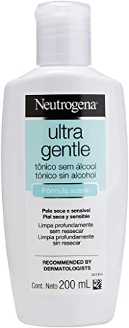 Tônico Facial Ultra Gentle sem Álcool, Neutrogena, 200ml