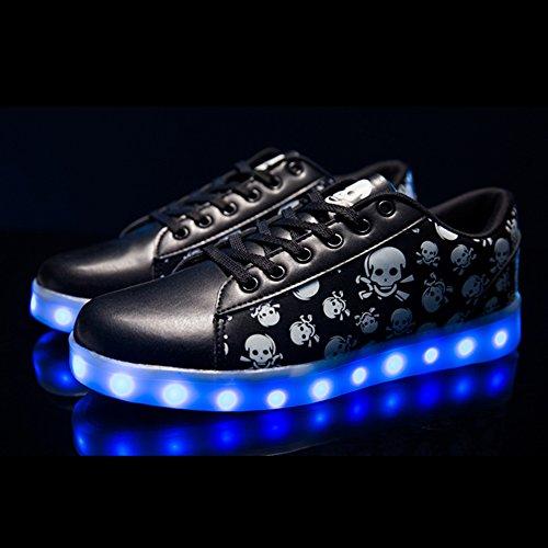 Scarpe Sportive con Nero Accendono Sneakers LED Scarpe Adulto Le Luminosi Unisex Luci DoGeek nTOSPxW