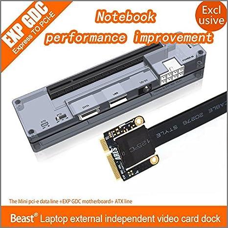 Rosa Lagarto v8.0 EXP GDC Bestia portátil externo tarjeta de video Independiente Dock: Amazon.es: Informática