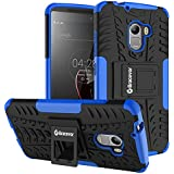 Bracevor Shockproof Lenovo Vibe K4 Note Hybrid Kickstand Back Case Defender Cover - Blue