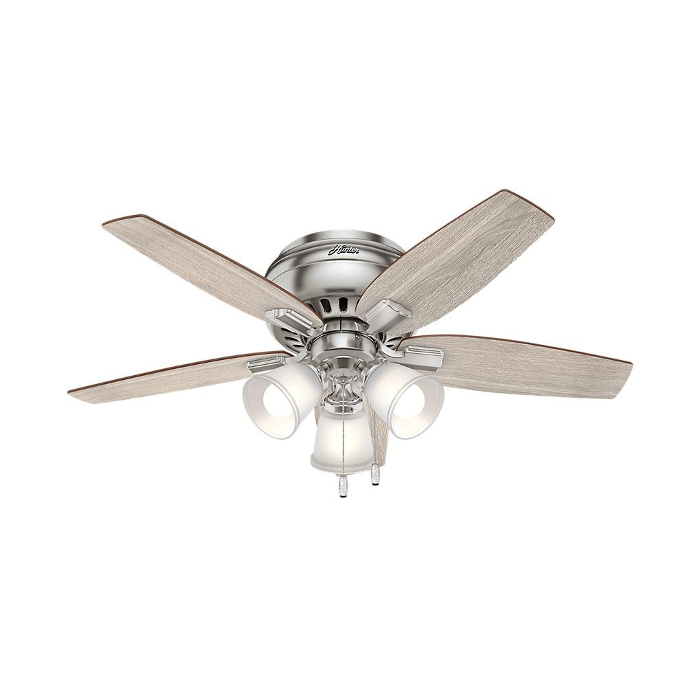 7a9836a022b Hunter 51075 Echo Bluff 42 in. LED Indoor Brushed Nickel Ceiling Fan - -  Amazon.com