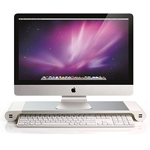 Yaekoo-Aluminum-Computer-Monitor-Stand-Space-Bar-Laptop-Pc-Stand-Monitor-Dock-Desk-Organizer-Monitor-Riser-with-4-USB-Ports-Keyboard-Storage-for-PC-Laptop-iMac-MacBook