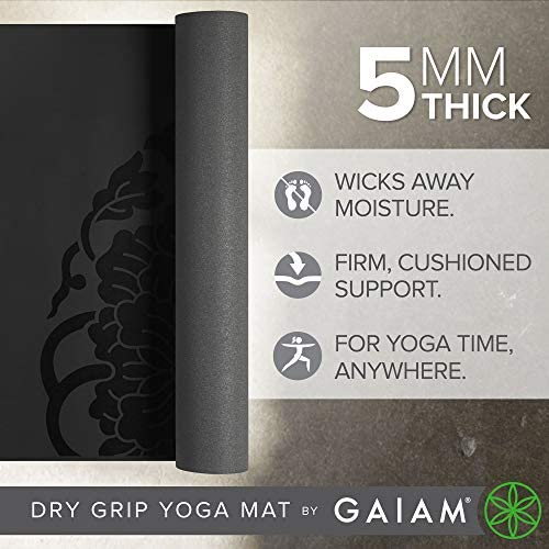 Gaiam Sol Dry-Grip XL Yoga Mat