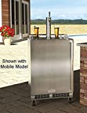 """Marvel MO24BSS2LS 24"""" Built-in Single-Tap Beer Dispenser with Half-Barrel Capacity 2 Stow-on-Board Refrigerator-Convertible Shelves Standard Door Lock 5 lb. CO2 Tank and Lo-Boy Coupler: Left review"""