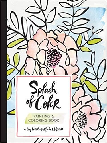 amazoncom splash of color painting coloring book 9781452155067 liz libr of linda harriett books - Painting Color Book
