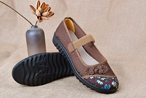 Anti Old Net Summer Breathable Light Bottom Shoes Mother GTVERNH Heel Coffee And Shoes Flat Age Grandma Soft Skid Middle Old Shoes Beijing U4txwf5q