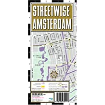 Streetwise Amsterdam Map - Laminated City Street Map of Amsterdam, Netherlands - Folding pocket size travel map with integrated tram lines & train stations