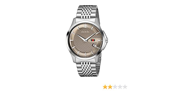 907db336d22 Gucci Men s YA126310 G-Timeless Slim Case Brown Watch  Amazon.ca  Watches