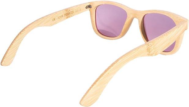 lunette de soleil en bambous carrés SURF lunettes bois polariseé