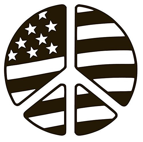 - PEACE WITH AMERICA FLAG Vinyl Sticker Decals for Car bumper window macbook pro laptop iPad iPhone (4