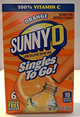 Sunny D Singles To Go! Orange 3 pack!